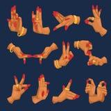 Manos de la mujer de la India con mudra del namaste en la muestra blanca del fondo y gestos indios de la lengua de la yoga refere Foto de archivo libre de regalías