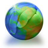 Manos de la tierra del planeta