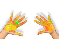 Manos de los niños imagen de archivo libre de regalías