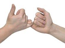 Manos de lucha del finger Fotografía de archivo libre de regalías