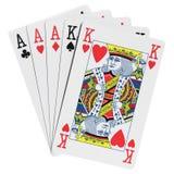 Manos de póker Fotos de archivo libres de regalías