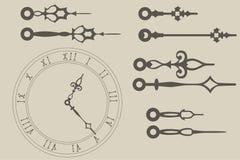 Manos de reloj Fotos de archivo