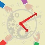 Manos de reloj stock de ilustración