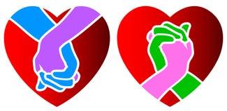 Manos del amor stock de ilustración