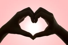 Manos del amor (con el camino de recortes) Fotos de archivo