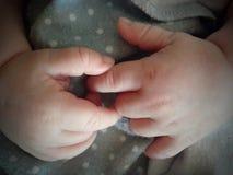 Manos del bebé Fotografía de archivo