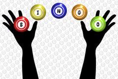 Manos del bingo stock de ilustración