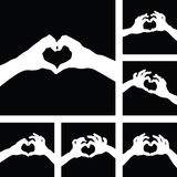 Manos del corazón del amor Imagen de archivo