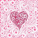 Manos del dibujo del corazón Fotografía de archivo libre de regalías