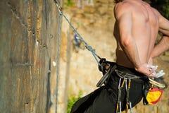 Manos del escalador Imagen de archivo libre de regalías