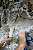 Manos del escalador Fotografía de archivo libre de regalías