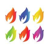 Manos del fuego imagen de archivo libre de regalías