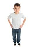 Manos del muchacho en caderas Foto de archivo