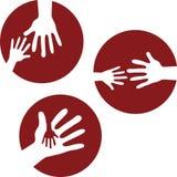 Manos del niño y manos adultas - 1 Fotos de archivo libres de regalías