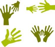 Manos del niño y manos adultas - 2 Imágenes de archivo libres de regalías