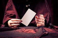 Manos del ` s del adivino Imagen de archivo libre de regalías