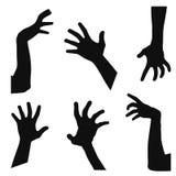 Manos del zombi Imagen de archivo libre de regalías