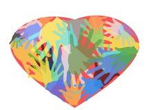 Manos en corazón libre illustration