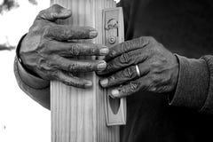 Manos en el trabajo Foto de archivo libre de regalías