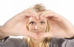 Manos en forma de corazón Fotografía de archivo libre de regalías