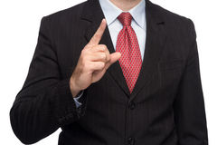 Manos en un traje de negocios que muestra los pulgares para arriba Imagen de archivo