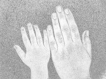 Manos grandes y pequeñas Imagenes de archivo