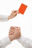 Manos humanas que demuestran un gesto de una distensión, un showin de la mano Fotografía de archivo libre de regalías