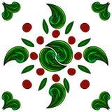 Manos pintadas del ornamento floral Foto de archivo libre de regalías