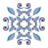 Manos pintadas del ornamento floral Imágenes de archivo libres de regalías