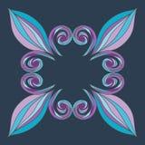 Manos pintadas del ornamento floral Imagen de archivo libre de regalías