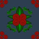 Manos pintadas del ornamento floral Fotos de archivo