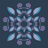 Manos pintadas del ornamento floral Fotografía de archivo libre de regalías