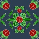Manos pintadas del ornamento floral Imagen de archivo