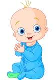 Manos que aplauden del bebé lindo Foto de archivo