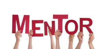 Manos que detienen al mentor