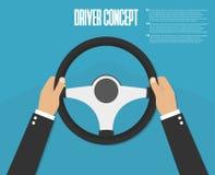 Manos que sostienen el volante Ilustración del vector driver ilustración del vector