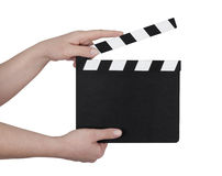 Clapperboard de la película imagen de archivo