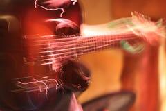 Manos rápidas de la guitarra Foto de archivo libre de regalías