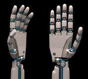 Manos robóticas Fotos de archivo libres de regalías