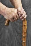 Manos y palillo Foto de archivo libre de regalías
