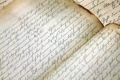 Manoscritto fotografie stock