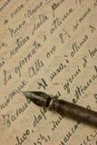Manoscritto fotografia stock