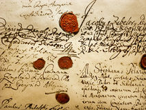 Manoscritto antico Fotografia Stock Libera da Diritti