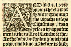 Manoscritto datato 1533. immagine stock libera da diritti