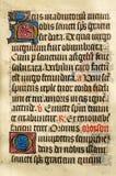 Manoscritto illuminato fotografia stock