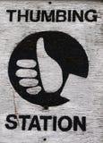 Manosear la estación con los dedos Imagen de archivo