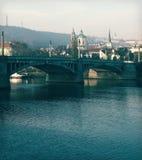 Manosuv bridge. Prague, Czechia Royalty Free Stock Photo