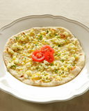 Manouche cheese. Lebanese pizza. melted cheese on dough stock images
