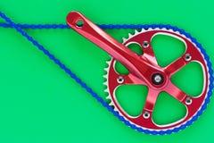 Manovella del fixie della bicicletta Immagini Stock