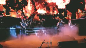 Manowar in Frankfurt, Germany Royalty Free Stock Photos